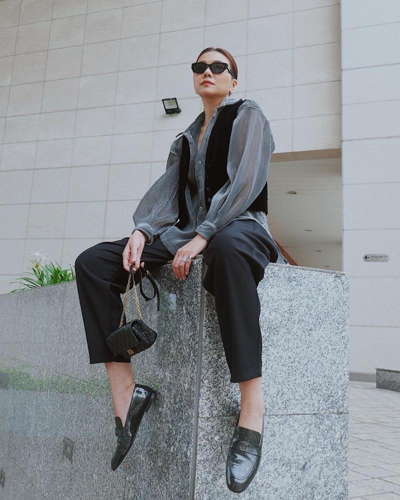 Style cuối tuần: Diệp Lâm Anh hack tuổi như gái teen - Lan Ngọc diện màu hot nhất năm-8