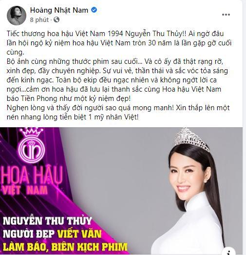 Sao Việt bàng hoàng khi hay tin hoa hậu Thu Thủy qua đời-2