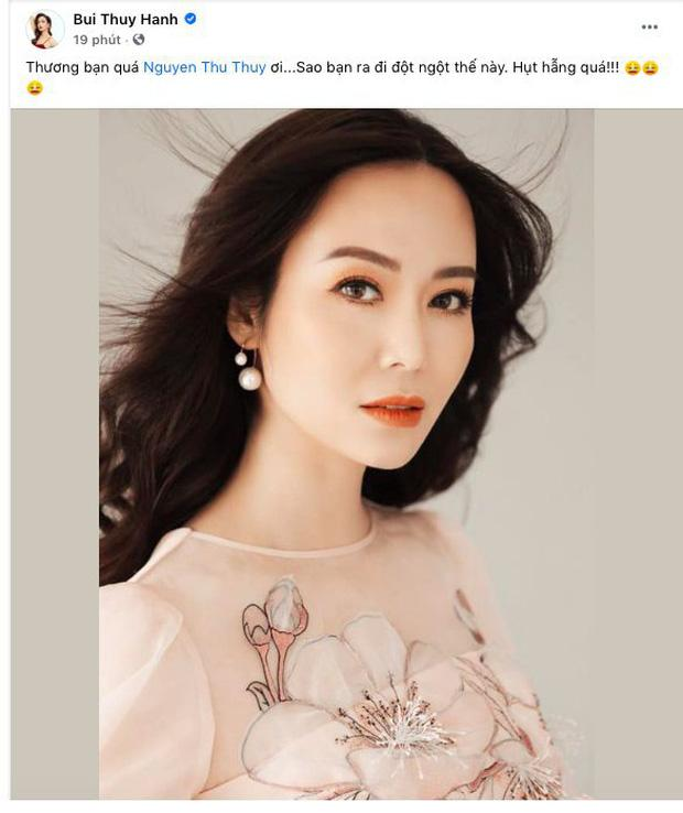 Sao Việt bàng hoàng khi hay tin hoa hậu Thu Thủy qua đời-3