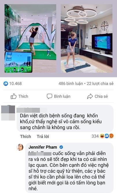Jennifer Phạm đáp trả tay đôi khi bị mắng sống vô cảm mùa dịch-3