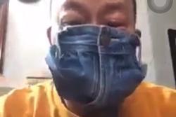 NSƯT Đức Hải phản cảm cực độ khi quay clip cắt quần làm khẩu trang