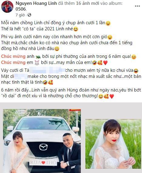 Netizen soi chi tiết sặc mùi tiền trong ảnh cưới MC Hoàng Linh với chồng-1