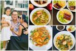 Đoan Trang trổ tài 'nữ công gia chánh' với loạt món Việt bên bầu trời Singapore