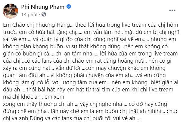 Phi Nhung nhắn bà Phương Hằng: Em không làm gì có lỗi với lương tâm-2
