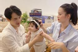 Những bước đi đáng yêu của con gái Đông Nhi ở tháng thứ 7