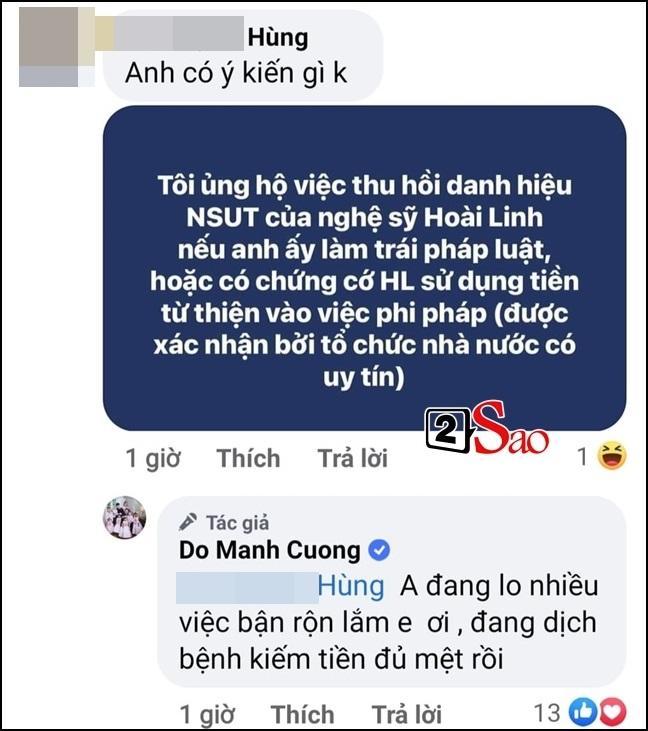 Đỗ Mạnh Cường phản ứng nếu tước danh hiệu Hoài Linh-2
