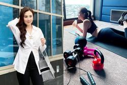 Hoa khôi VTV khoe 'nhẹ' thành quả giảm cân sau 1 tuần tập ở nhà