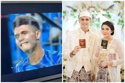 Thủ môn Indonesia nhặt bóng 4 lần cho tuyển Việt Nam: Điển trai, body mlem nhưng đã có vợ