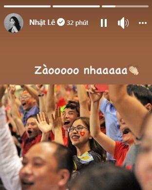 Bồ tin đồn dễ gì giấu giếm tâm trạng khi Quang Hải ghi bàn vào lưới Indonesia-1
