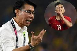HLV Malaysia thấy may mắn khi Quang Hải 'gặp hạn' trước trận sinh tử
