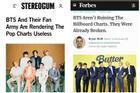 Người chỉ trích BTS và ARMY khiến BXH nhạc Pop trở nên vô dụng thừa nhận sai lầm