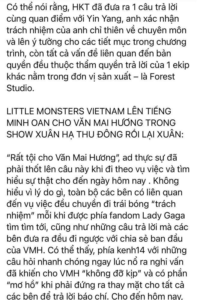 Fan Lady Gaga bất ngờ lật mặt bênh vực Văn Mai Hương: Đời có ai ngờ!-5