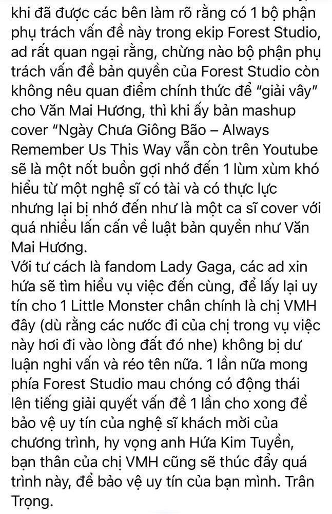 Fan Lady Gaga bất ngờ lật mặt bênh vực Văn Mai Hương: Đời có ai ngờ!-6