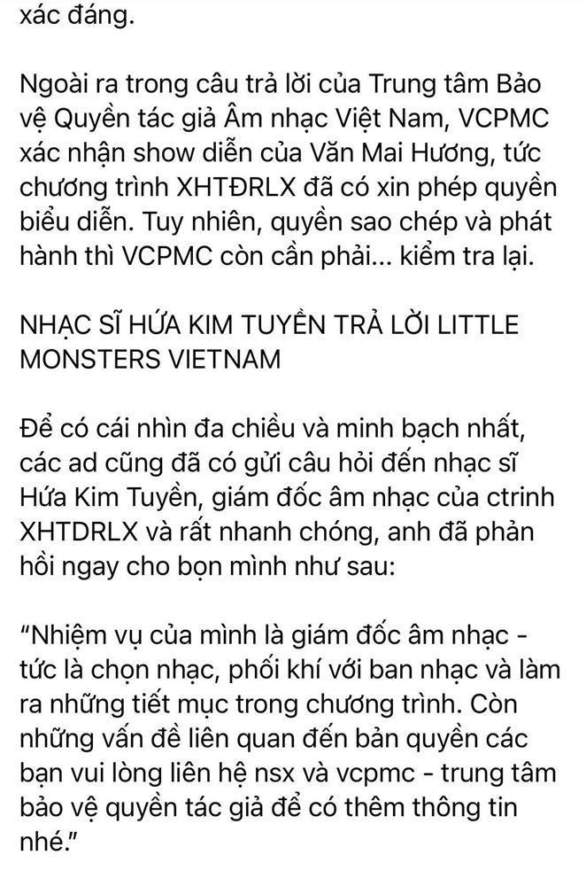 Fan Lady Gaga bất ngờ lật mặt bênh vực Văn Mai Hương: Đời có ai ngờ!-4