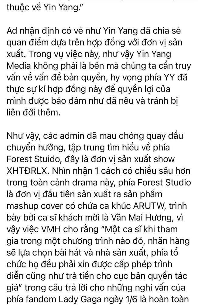 Fan Lady Gaga bất ngờ lật mặt bênh vực Văn Mai Hương: Đời có ai ngờ!-3