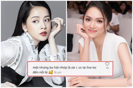 Trái ngược Chi Pu, Hương Giang live tệ hại nhưng lại được netizen 'xót xa'