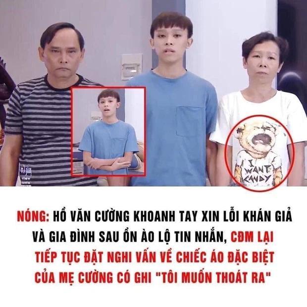 Netizen đặt nghi vấn về chiếc áo đặc biệt của mẹ Hồ Văn Cường trong clip-1