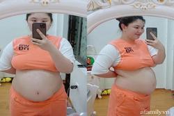 Mẹ Hà Nội đẻ lần đầu xinh đẹp vạn người mê, bầu lần 2 tăng vọt 40kg khiến chồng không nhận ra vợ
