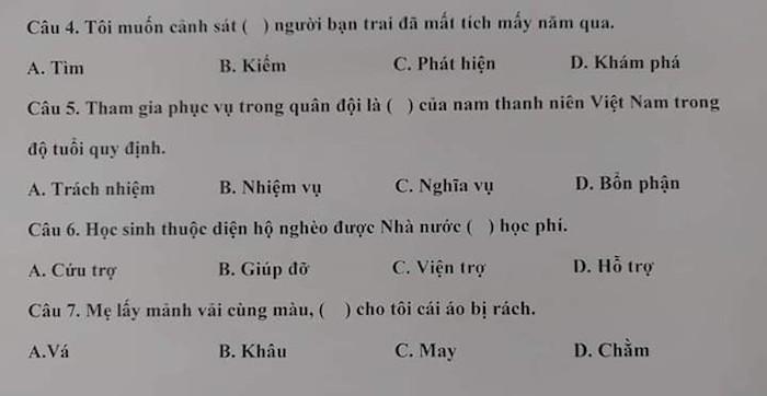Đề thi năng lực tiếng Việt dành cho người Nhật, đọc xong chỉ muốn lú-5