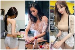 Loạt người đẹp vào bếp mùa Covid với trang phục phản cảm