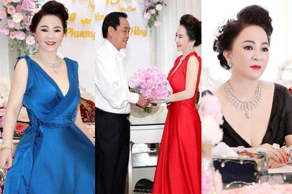 Bà Hằng khoe 11 năm ngày cưới, thay liên tục 3 bộ váy phủ kim cương