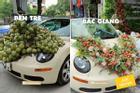 Sau hoa cưới vải thiều, dân mạng chế loạt xe dâu toàn đặc sản quê hương