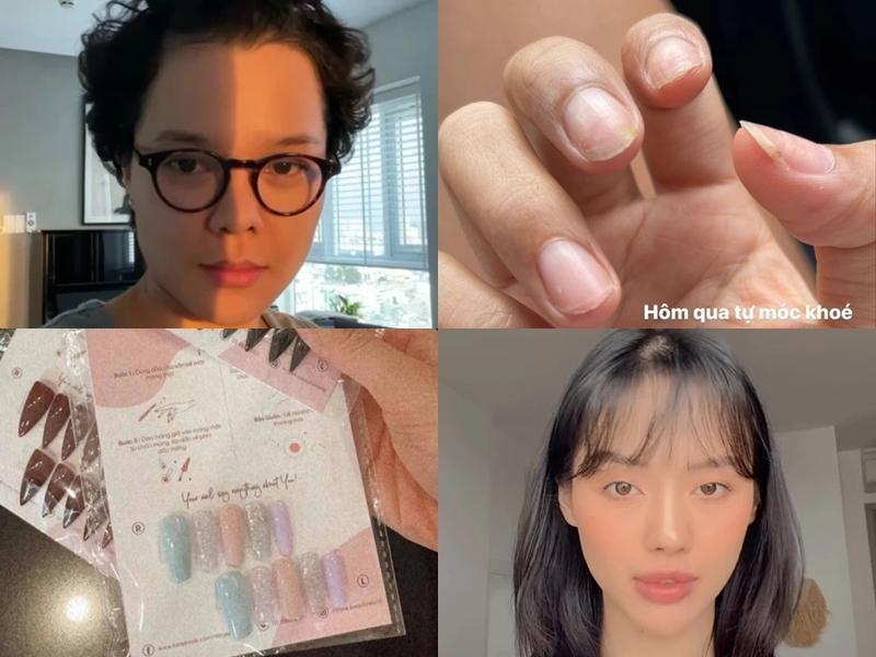 Sao Việt tự xử khi tiệm nail salon tóc đóng cửa