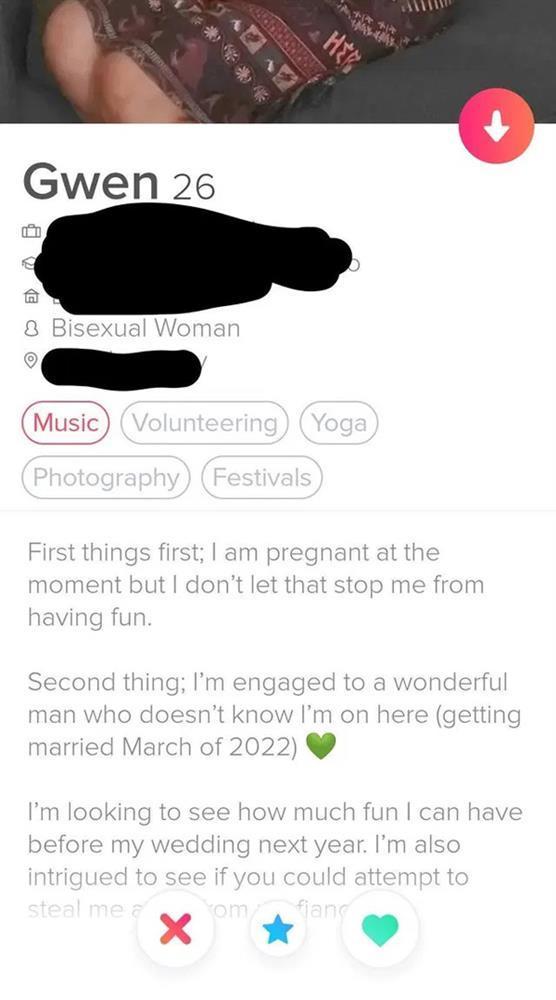 Lập tài khoản mạng để hẹn hò trong khi chuẩn bị kết hôn và đang mang thai, cô gái 26 tuổi bị chỉ trích-1