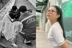 Phương Mỹ Chi hoảng sợ khi gặp người phụ nữ rạch tay trên cầu