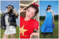Thúy Ngân diện áo Quốc kỳ mừng tuyển Việt Nam - Kỳ Duyên ngầu đét với style golfer
