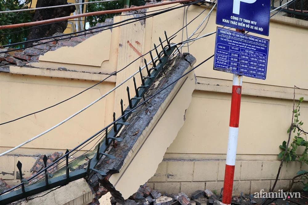 Hà Nội: Cây cổ thụ hàng chục năm tuổi bất ngờ bật gốc sau trận gió lớn, đè sập tường Tòa án nhân dân tối cao-5