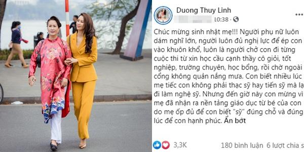 Nhan sắc gây chú ý của mẹ ruột Dương Thùy Linh ở tuổi 62-1