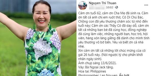 Nhan sắc gây chú ý của mẹ ruột Dương Thùy Linh ở tuổi 62-5