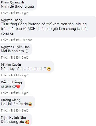 Công Phượng lén lút cầm tay Quang Hải, fan đồng loạt gọi tên Viên Minh-3