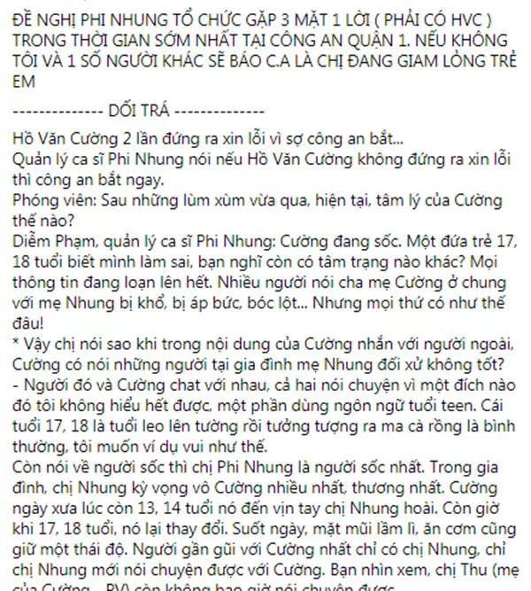 Nhâm Hoàng Khang sẽ báo công an nếu Phi Nhung cấm túc Hồ Văn Cường-1