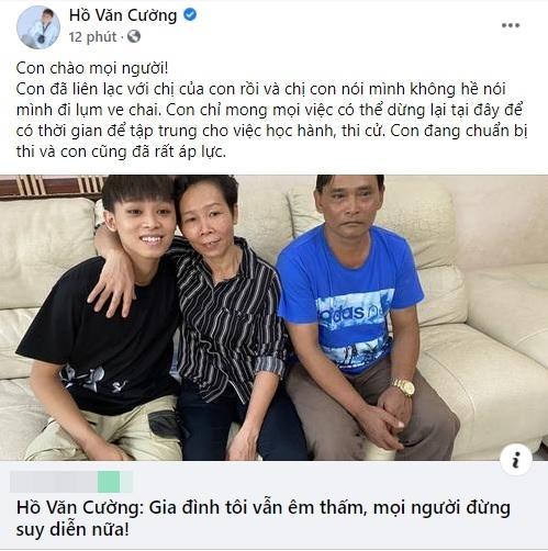 Hồ Văn Cường phủ nhận chị gái vất vả, càng không có chuyện lượm ve chai-1