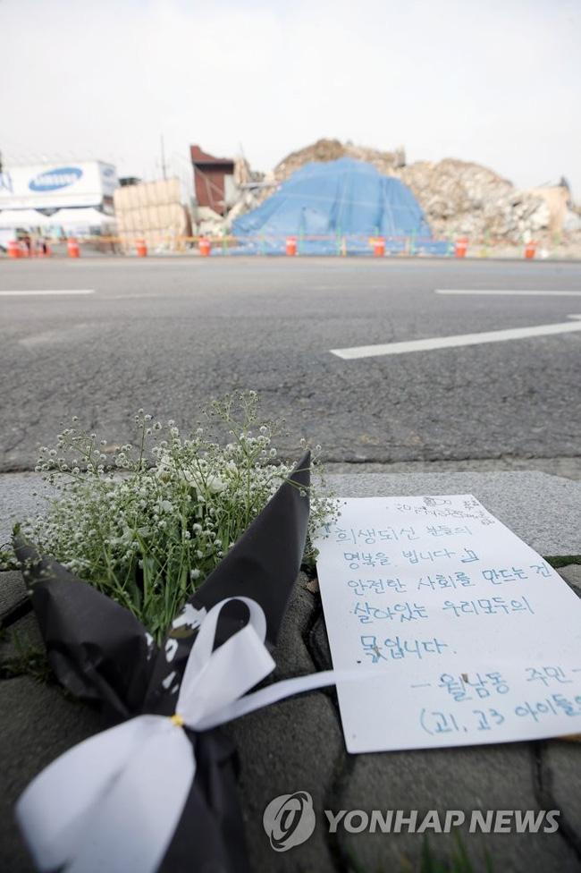 Hiện trường tòa nhà 5 tầng đổ sập ở Hàn Quốc: Kinh hoàng như 1 vụ đánh bom-5