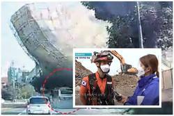 Hiện trường tòa nhà 5 tầng đổ sập ở Hàn Quốc: Kinh hoàng như 1 vụ đánh bom