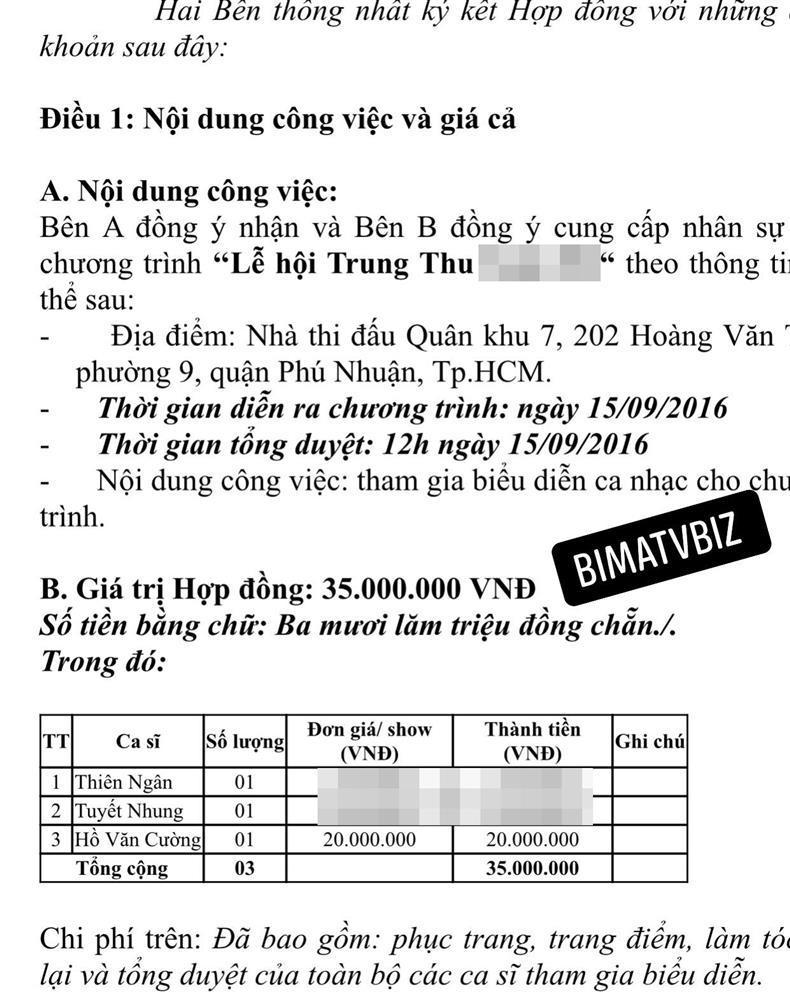 Rò rỉ hợp đồng Hồ Văn Cường, cát-xê khiêm tốn dù ở thời đỉnh cao-4