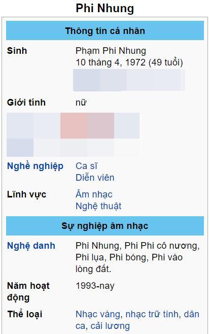Phi Nhung bị đổi tên trên Wikipedia sau liên hoàn phốt-4