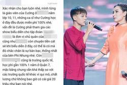 'Giáo viên cũ' nói Hồ Văn Cường được miễn 100% học phí, nhà trường nói sao?