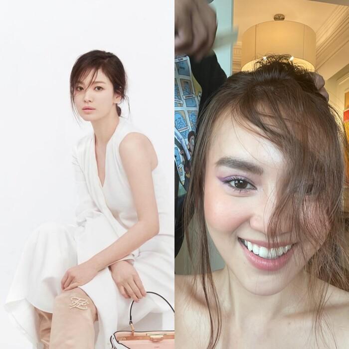 Ninh Dương Lan Ngọc makeup giống Song Hye Kyo nhưng lại khiến fan tá hỏa-2