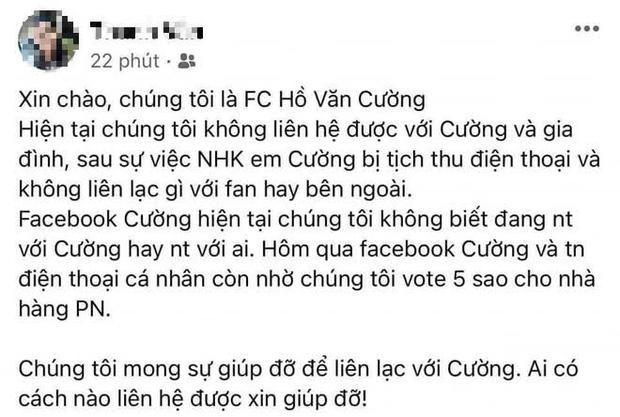 Rộ tin FC đang không liên lạc được với Hồ Văn Cường-1