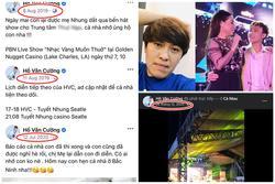 Bằng chứng Hồ Văn Cường '2 năm dịch dã vẫn đi hát chứ không ở nhà chờ má nuôi'