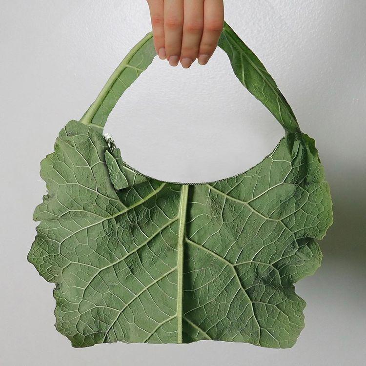 Cô gái sáng tạo thời trang từ kẹp ghim, rau củ-11