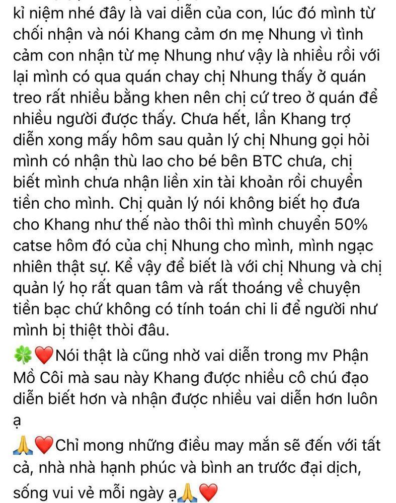Ba sao nhí Huy Khang nói về Phi Nhung và Hồ Văn Cường: Họ tình cảm lắm-4