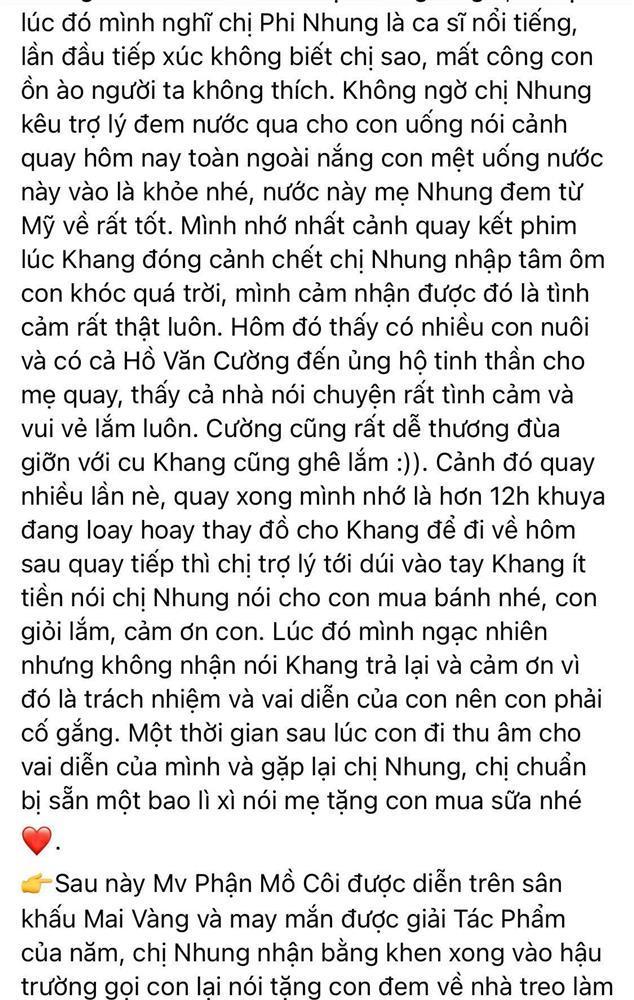 Ba sao nhí Huy Khang nói về Phi Nhung và Hồ Văn Cường: Họ tình cảm lắm-3