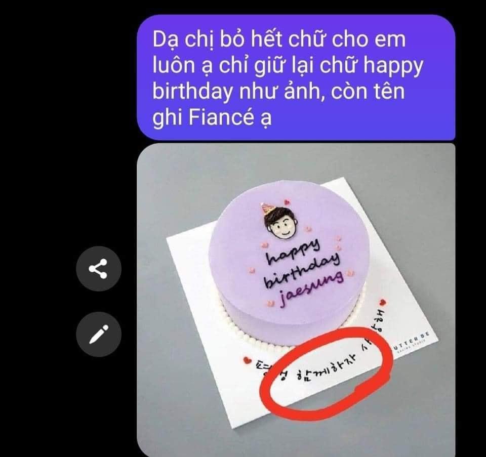 Đặt bánh sinh nhật nhờ viết lời chúc, cô gái xỉu lên, xỉu xuống khi đọc dòng chữ-1