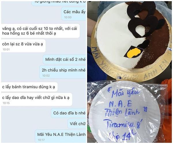 Đặt bánh sinh nhật nhờ viết lời chúc, cô gái xỉu lên, xỉu xuống khi đọc dòng chữ-8