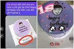 Đặt bánh sinh nhật nhờ viết lời chúc, cô gái 'xỉu lên, xỉu xuống' khi đọc dòng chữ